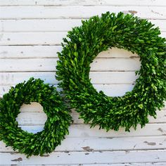 Preserved Boxwood Garden Wreath - 14 Inch and 22 Inch (set of 2) REDUCED PRICE!!! Limited time!!