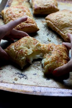 Croque Monsieur Pop-Tarts — you won't find these savory Pop-Tarts in a box, via @cookingforkeeps