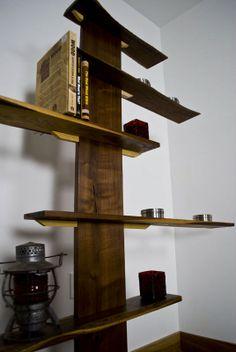 Bonsai Bookshelf.  Made from reclaimed American Walnut.