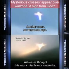 YouTube chanel: christian honor end time news 'Mysterious crosses' appear over warzone. A sign from God?  #jesuschrist #crosses #jesus #christ #signfromgod