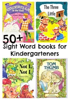 50+ sight words books for kindergarteners.....Dear Dragon books by Margaret Hillert are Accelerated Reading level of 0.7-1.0