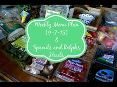 Weekly Menu Plan {9-