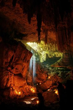 Rio Secreto is a huge system of caves near to Playa del Carmen, Mexico. Incredible photo by Paul Steele