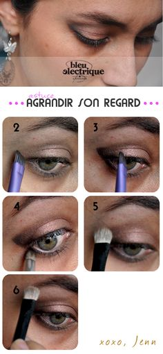 Maquillage// Agrandir son regard tuto  - www.bleuelectrique.fr