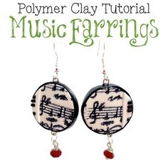 Polymer Clay Tutorial - Musical Earrings Project by KatersAcres