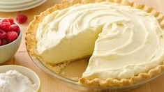Luscious Lemon Cream Pie Creamy, delicious and so easy to make, yet tasty enough for any celebration! Luscious Lemon Pie with SLUSCIOUS LITTLE LEMON Luscious Lemon Recipes Lemon Desserts, Lemon Recipes, Just Desserts, Delicious Desserts, Pie Dessert, Dessert Recipes, Lemon Cream Pies, Cream Cheese Lemonade Pie, Lemon Chiffon Pie