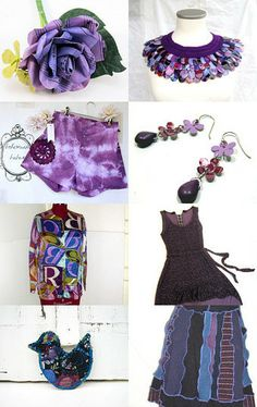 Recycled Purple Party! by Jennifer Burrell on Etsy--Pinned with TreasuryPin.com