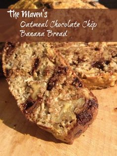 Leftover bananas and cool spring morning mean oatmeal chocolate chip banana bread.