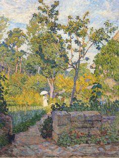 Dans le jardin à Champigné ~ Henri Lebasque ~ (French 1865-1937)
