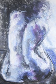 Buy Blue Nude, Drawing by Sheila Volpe on Artfinder. Life Drawing, Amethyst, Nude, Crystals, Drawings, Artist, Artwork, Inspiration, Pastel