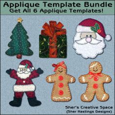 Christmas Applique Bundle - Volume 1 | Sewing Pattern | YouCanMakeThis.com