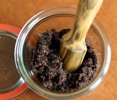 DYI Coffee Scrub - Not only does I smell great, but the caffeine in the coffee can reduce the appearance of cellulite.  1/4 cup raw sugar  1/4 cup ground coffee 1 tbsp olive oil  2 tbsp coconut oil  1 tbsp sea salt