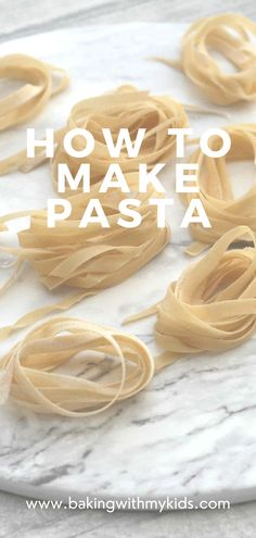 This basic recipe for homemade pasta is a great way of getting kids in the kitchen. It's really easy and only has 2 ingredients – perfect for little chefs! #homemade #how to make #pasta dough #easy pasta dough recipe #cooking with kids #easy recipe Quick Weeknight Dinners, Easy Family Dinners, Easy Meals, Crockpot Recipes, Cooking Recipes, Basic Recipe, Little Chef, Drying Pasta, Fresh Pasta