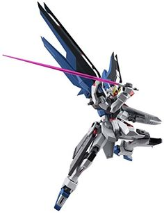 """Bandai Tamashii Nations Robot Spirits Freedom """"Gundam Seed"""" Action Figure With all around superior articulation technology, it is even possible to re-create the impressive Full Burst attack pose! Set includes interchangeable hands (x6), beam rifle, shield, 2 katanas for the beam saber, 2 beam saber hilts, and beam sheath After freedom, justice is sure to be close behind"""