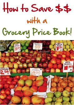 How to Save Money with a Grocery Price Book.  I started doing something like this a while back, but I didn't complete it.  I do shop the sales, though, and stock up when things are on a good sale.