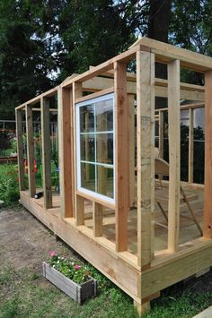 I have been waiting to share my custom built playhouse for the right time and the right time is now! Believe it or not, the playhouse was one of my first projects of this size. Most of my projects … Framing Construction, Garden Cabins, Diy Storage Shed, Casas Containers, Build A Playhouse, Diy Shed Plans, Backyard Sheds, Building A Shed, Building Plans