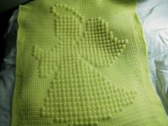 Crocheted guardian angel baby blanket by SweetpeasBoutique27