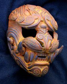 http://mostlymade.deviantart.com/art/Lion-of-the-Wind-Rust-mask-484387678