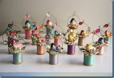 Bird Spoolies great party favors, spring decor or Christmas ornaments
