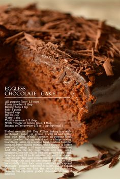 EGGLESS CHOCOLATE CAKE-VEGAN CHOCOLATE CAKE | kurryleaves - worth making again (1/4 tsp salt) and 1/2 tsp espresso powder