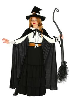 Let your childu0027s imagination run free in this exclusive Girls Salem Witch Costume. They will not want to take this costume off especially after they learn ...  sc 1 st  Pinterest & Witch costume by Laura Lee Burch | halloween | Pinterest | Witch ...