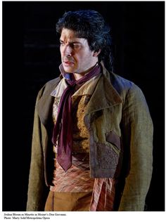 Costume from Mozart's Don Giovanni.