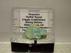 Thumbnail Mineral Specimen - Turquoise Nugget (High Grade), Cripple Creek CO