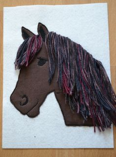 Nähblog mit vielen kostenlosen Schnittmustern und Anleitungen. Small Sewing Projects, Projects For Kids, Diy For Kids, Embroidery Applique, Machine Embroidery, Horse Birthday Parties, Diy Back To School, Farm Yard, Textiles