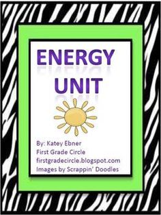 Energy Unit includes 6 experiments from my TpT store.  only $6.00