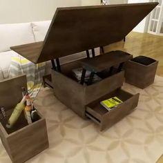 Smart Furniture, Space Saving Furniture, Home Decor Furniture, Furniture Design, Office Furniture, Living Room Sofa Design, Home Room Design, Home Interior Design, Living Room Decor