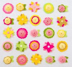 Felt Flower Charms | Purl Soho