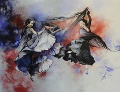 'Flying hearts' 50x65cm by Sophie Dumas (France) http://lechevaldelumiere.blog4ever.com/
