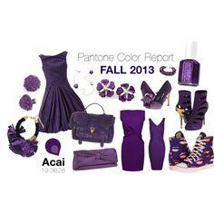 """Pantone Fall 2013 Color Report - Acai"" by ovaryaction on Polyvore #pantone #acai #fall2013"
