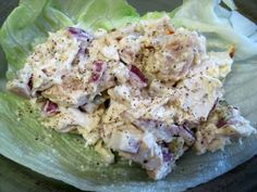 Dukan chicken salad...I've had a chicken salad craving for weeks and this is perfect!