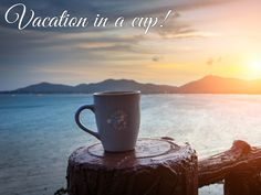 Coffee is a vacation in a cup! c[_]