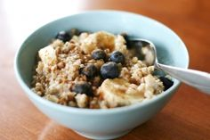 Protein Packed Blueberry Banana Oats