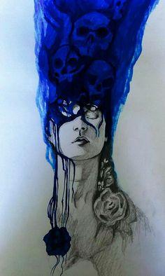 Blue death. ink & pencil