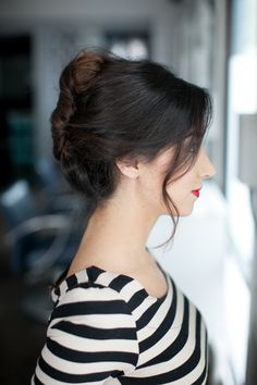 How to do a french twist casual updo