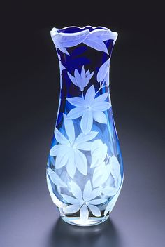 Clematis Vine art glass by Cynthia Myers