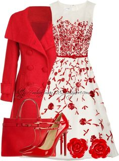 what color shoes to wear with red dress - cute dresses outfits : what color shoes to wear with red dress - beautiful dresses Polyvore Outfits, Komplette Outfits, Classy Outfits, Beautiful Outfits, Fashion Outfits, Womens Fashion, Fashion Trends, Polyvore Fashion, Black Outfits