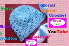 Crochet Tutorial Gorro Bebe Celeste (Parte 1) Subtitles  English & Deutsch