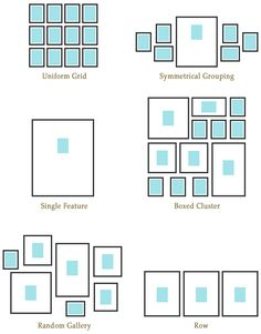 Free Printable Gallery Wall Template For Planning Layout With
