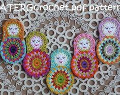 Crochet pattern flower baby rattle by ATERGcrochet by ATERGcrochet