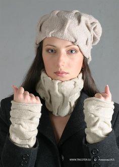 Модель 17 шапка шарф метенки