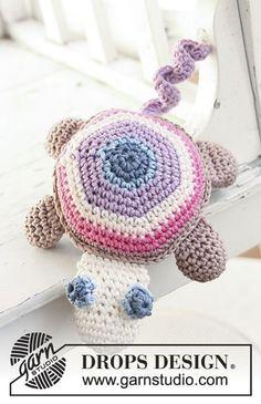 "Timmy the Turtle / DROPS Baby 13-31 - Schildkröte in ""Muskat"" oder ""Safran"""