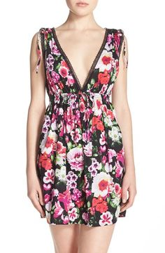 Floral Open Back Nightgown. Betsey Johnson.