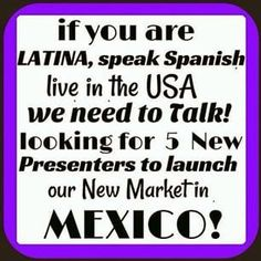 If you speak Spanish, there is an amazing opportunity available right now through Younique! You would be the Newest Presenters for Mexico!!!! This is HUGE!!! If you can speak Spanish and know ONE person in Mexico, Younique is opening their doors for new business owners in Mexico! Get involved now and you will have the greatest career selling makeup to great people! Check it out here, click on the link below! https://www.youniqueproducts.com/staceykclark/business/racetostart/1#.VUkPVSFVikp