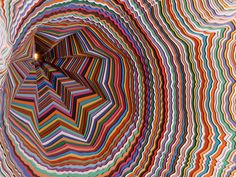 american artist jen stark creates three-dimensional pieces which take paper to a whole new level of sculpture. Jen Stark, Paper Artwork, Paper Artist, Construction Paper, Paper Cutting, Cut Paper, Paper Paper, Paper Crafts, Op Art