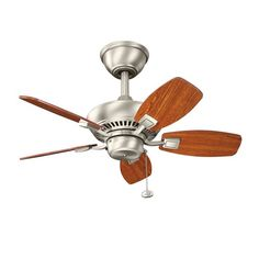 "Kichler 300103NI Canfield 30"" Brushed Nickel Ceiling Fan"