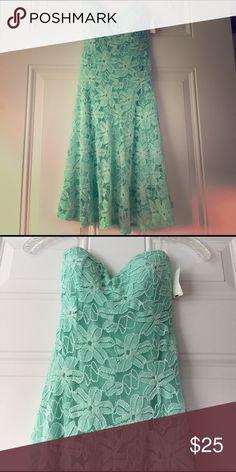 Mint green dress Brand new mint green strapless sweetheart dress. Pretty lace design. Dresses Mini